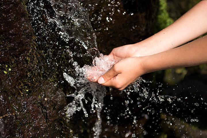 地溝がもたらす美味しい水